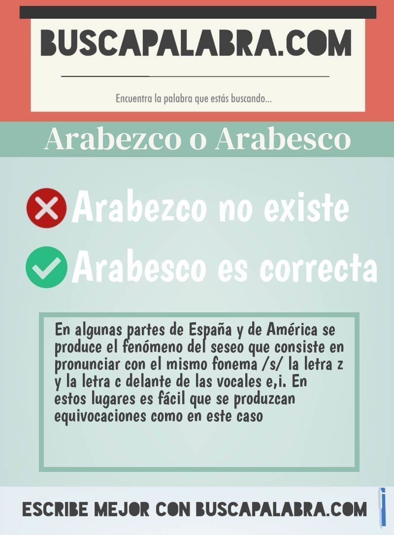 Arabezco o Arabesco