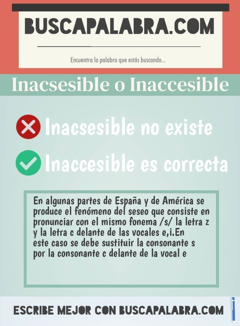 Inacsesible o Inaccesible