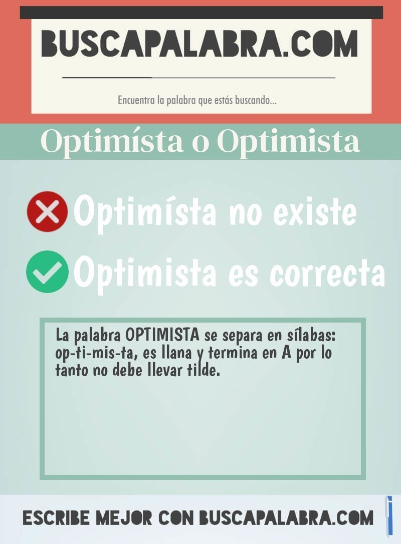 Optimísta o Optimista